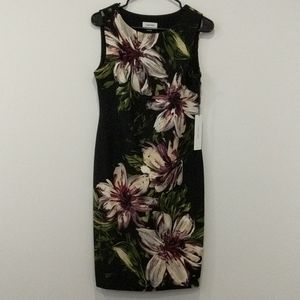 Calvin Klein Sleeveless Flowered Dress